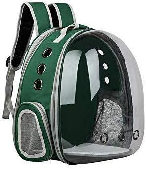 1yess Tragbare Haustier-Katze-Rucksack Faltbarer Multi-Funktions-Hund Tragetasche Große Raumkapsel Luftblasen-Schulter-Haustier-Rucksack Zelt Cage (Color : Green)