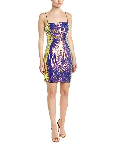 Price comparison product image Aidan by Aidan Mattox Womens Sequined Spaghetti Straps Party Dress Purple 8