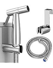 Bidet Sproeier voor toilet, WISMURHI Handheld Doek Luier Sproeier Badkamer Jet Sproeier Kit Spray Attachment met slang, eenvoudig te installeren, grote waterdruk voor het baden van huisdieren, vrouwelijke hygiëne
