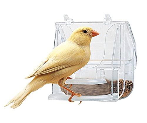 Ferplast 84522724 Pretty 4522 - Ciotola per uccelli, 9 x 9 x 9 cm, trasparente