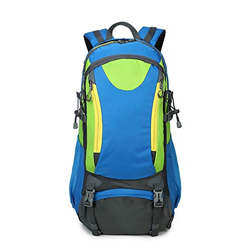RongDuosi Outdoor Mountaineering Bag Grote Capaciteit Nylon Tas Mannen En Vrouwen Rugzak Camping Waterdichte Slijtvaste Solid Leisure Reizen Rugzak Outdoor rugzak Zwembed