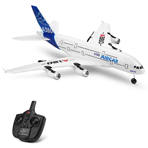 ASfairy-Toy WLtoys A120-A380 2.4GHz 510mm Wingspan 3CH RC Airplane RTF Glider 360° Flip Six Axis Gyroscope Powerful Motor EPP Material Simulation Remote Control Airplane for Kids 14+ Years Old