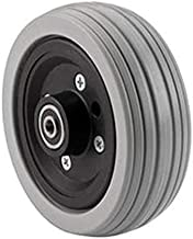The Aftermarket Group Wheelchair Caster Assembly, Flat Free, Grey Ribbed Tire, 6