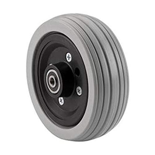 The Aftermarket Group Wheelchair Caster Assembly, Flat Free, Grey Ribbed Tire, 6' x 2', TAGC1762