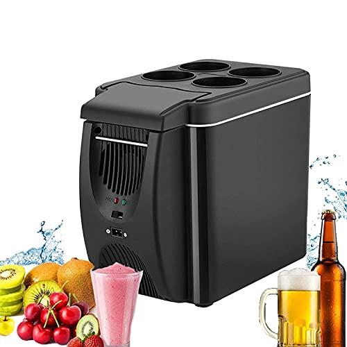 NMSLA Portátil Mini Frigorífico Capacidad Cooler Coche Refrigerador Congelador Congelador Rápido Enfriador Más Enfriador Calentador Viajes Frigorídicos para Campervan RV Frigorífico Bote Picnic 6 l