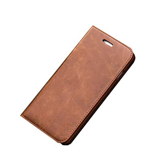 Schutzhülle für Samsung S6 Edge, Leder, Geldbörsen-Stil, magnetisch, stoßfest, Klappetui mit Standfunktion und Kartenfächern für Samsung S6, Hellbraun, SamsungS6