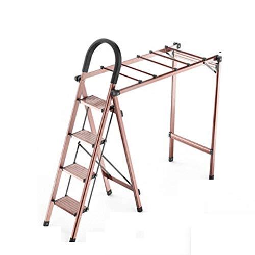 MMPY Tendedero, Escalera Tendedero de Doble Uso de Suelo Plegable Cubierta Principal Balcón Fresco de suspensión de Secado Panel de Secado edredón Artefacto