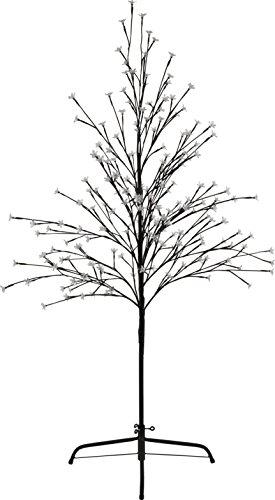 HEITRONIC Solar LED Baum, 1,52m Höhe, mit 200 blauen LED Solarbaum Außendekoration
