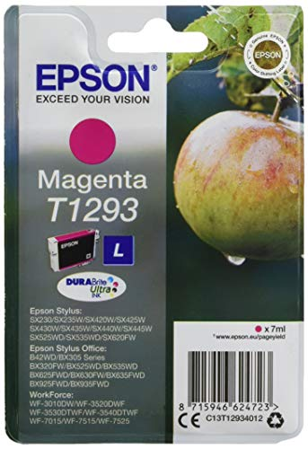 Epson T1293 - Cartucho de tinta para Stylus SX230, magenta válido para los modelos WorkForce, Stylus, Stylus Office y otros, Ya disponible en Dash Replenishment, Normal