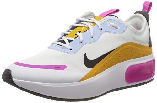 Nike Damen W Air Max Dia Laufschuh, White/Black-Pollen Rise-hydrogen Blue, 36.5 EU