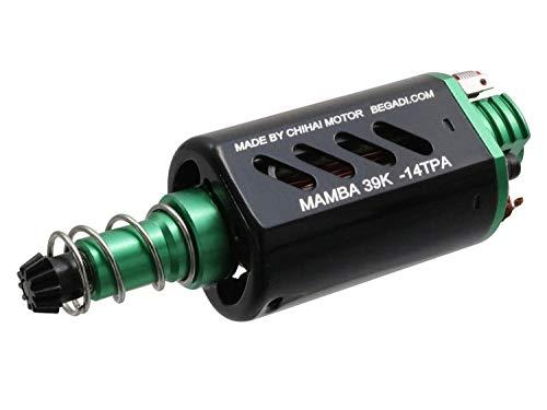 BEGADI Airsoft Mamba 39K - 14 TPA Neodym Softair Speed Tuning Motor, CNC Motorplatte, grün -lang-