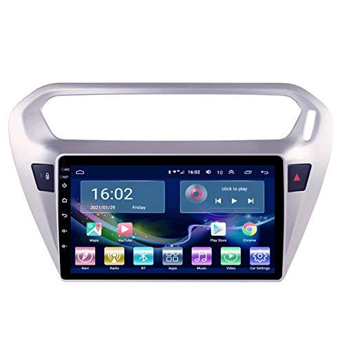 Coche STEREO SAT NAV RADIO, PARA PEUGEOT (301)2014-2018, Reproductor De DVD, Bluetooth, Dispositivo De Navegación GPS, Estéreo, Musik, 4G, WiFi, Din-Navigatio(Size:2G+32G,Color:WiFi de cuatro
