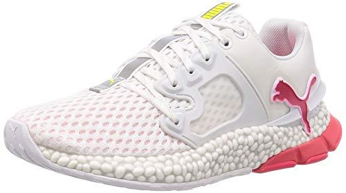 Puma Damen Hybrid Sky Weiß, Laufschuhe Sneaker, White/Pink alert/Yellow alert, 38.5 EU