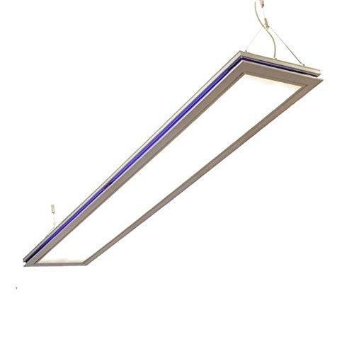 LED Panel, Bürolampen, SUSI max 2x26W LED Röhren austauschbar, neutralweiß (4000K) Deckenleuchte, Hängeleuchte, Büro Designleuchte
