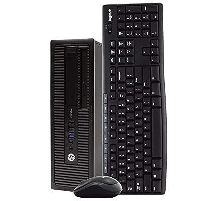 HP ProDesk 600 G1 Desktop Computer PC, Intel Quad Core i5, 8GB RAM, 1TB HDD, Windows 10 Pro, New 16GB Flash Drive, Wireless Keyboard & Mouse, DVD, WiFi (Renewed)