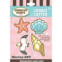 アイシングクッキー用クッキー型(American Sweets)シリーズ (マリンセット)