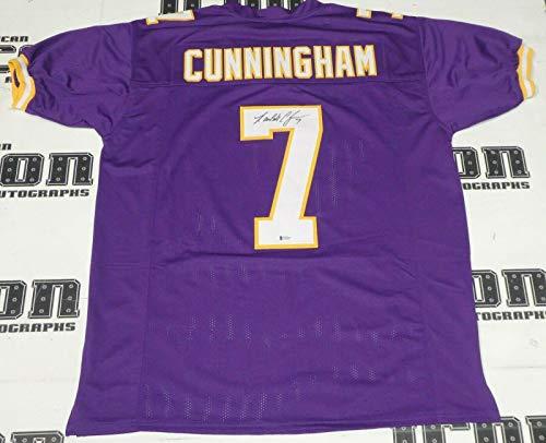 Randall Cunningham Signed Vikings Football Jersey BAS Beckett COA MVP Autograph - Autographed NFL Jerseys