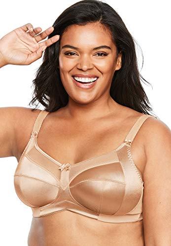 GODDESS Women's Plus-Size Keira Banded Underwire Bra, Nude, 44K
