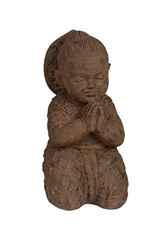 Amaris Elements | Buddha Figur XL 50cm Mönch Stein frostsicher | groß massiv wetterbeständig 50kg | Ideal für Garten Balkon Terrasse oder Beet