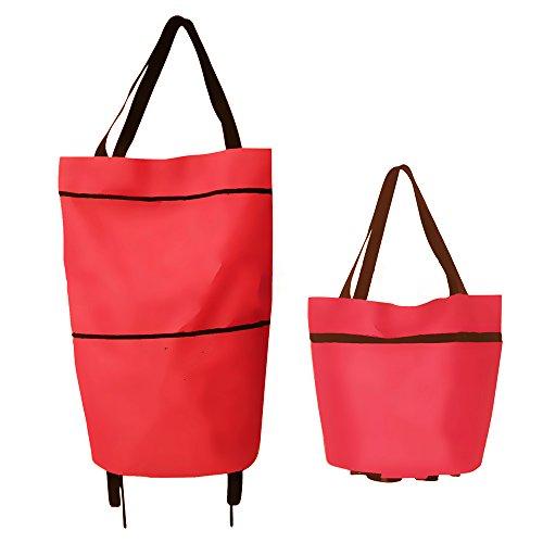 kuaetily leichte Einkaufswagens Foldable Einkaufstasche Mini Einkaufstrolley zufällige Farbe
