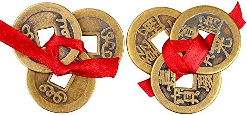 LIUXINDA-HZ Monedas Chinas Feng Shui, Fortune I-Ching Monedas Monedas Chinas de la Buena Suerte Dinastía China Antigua Moneda del Tiempo Latón Dinero de los Tres emperadores