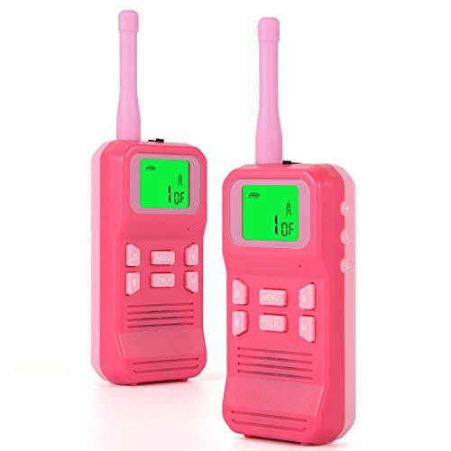 Walkie Talkie para Niños, 22 Canales Range de 3KM Walky Talky, Función VOX LCD Pantalla Walkie Talkie Niños Juguetes Regalo para Senderismo, Camping, Picnic