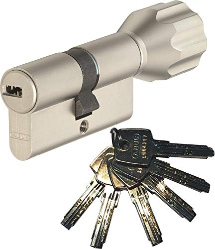 ABUS EC550 - Bombín cilíndrico para puerta (largo 30 30mm, incluye 6 llaves)