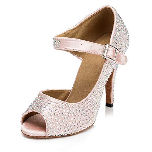 JUODVMP Zapatos de Baile Latino para Mujer Sandalias de Baile de Salsa...