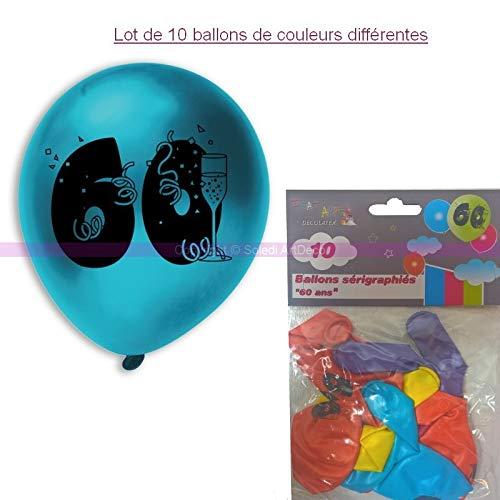 Ballonnen 60 jaar, diameter 28 cm, voor decoratie verjaardag