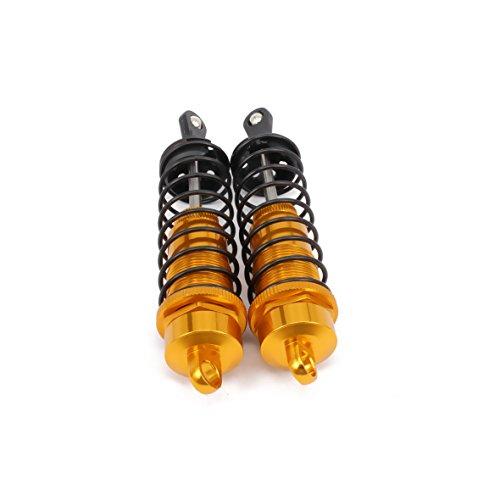 RCAWD Stoßdämpfer Dämpfer 81004 122mm Öl gefüllt Einstellbares Aluminium für Rc Auto 1/8 Buggy Truck Upgrade Hop-Up Teile HSP HPI Traxxas Losi Axial Tamiya Redcat 2Stk(Gold)