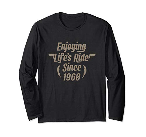 Gift for 60 Year Old: Motorcycle Rider 1960 60th Birthday Long Sleeve T-Shirt
