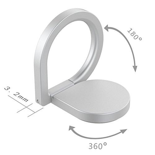 360° drehbarer Smartphone Fingerhalter (Schwarz) - 8