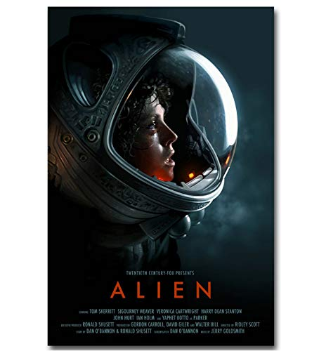 REDWPQ Alien Art Canvas Poster Print Classic Science Fiction Movie Picture para la Sala de Estar Decoración de la Pared 40X60Cm sin Marco