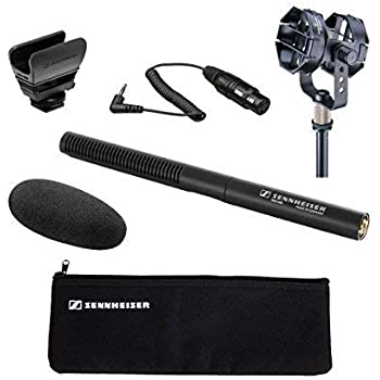 """Sennheiser MKE 600 Shotgun Microphone with Audio-Technica AT8415 Shock Mount and Sennheiser KA 600 - XLR Female to 1/8"""" TRS Male Connection Cable – 15"""""""