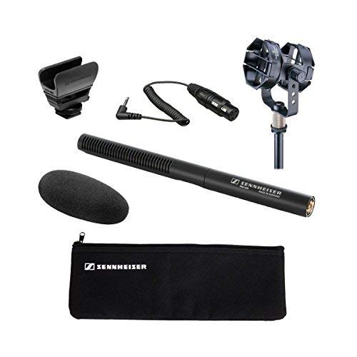 Sennheiser MKE 600 Shotgun Microphone with Audio-Technica AT8415 Shock Mount and Sennheiser KA 600 -...