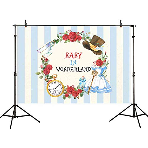 Allenjoy Winter Pink Woodland Safari Animals Boho Backdrop Baby Shower Little Girl is On The Way Welcome Party Decoration Lights Glittering Photoshoot Background 7x5ft Photo Booth Props Banner