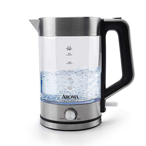 Aroma Housewares Electric Water Kettle, 1.7L, Stainless Steel