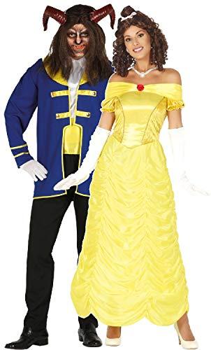 Fancy Me Faschingskostüme für Paare, Damen, Herren, Märchen, Filmbuch Prinz, Prinzessin, Halloween,
