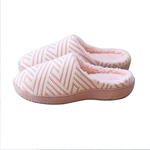 TTFF Felpa Suave Invierno Pantuflas,Zapatillas de Plataforma Antideslizantes, Zapatos de algodón cálidos para Interiores,Suave y Antideslizante Interior Pantuflas