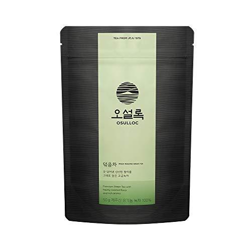 OSULLOC Fresh Roasted Green Tea, Premium Organic Pure Tea from Jeju, Leaf in Pouch Package, 1.76 oz, 50g