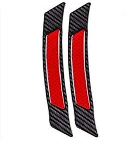 TRUE LINE Automotive Inner Reflective Black Carbon Fiber Wheel Well Fender Door Bumper Trim Molding (Red)