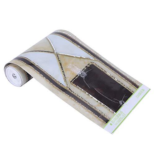 Papel Tapiz Peel de Borde, 15x500cm Adhesivo para zócalo PVC Tridimensional Autoadhesivo DIY Adhesivo para decoración del hogar Impermeable Fácil de Pegar y Quitar