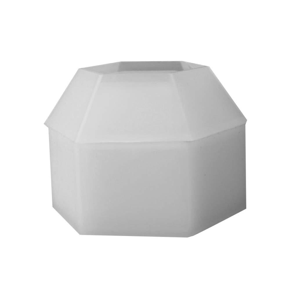 HEALLILY Caja de Almacenamiento Molde de Silicona 3D Diseño Hexagonal Bricolaje Caja de Joyería Fundición Moldes de Resina Epoxi con Tapa Caja de Almacenamiento Contenedor Molde Artesanal: Amazon.es: Hogar