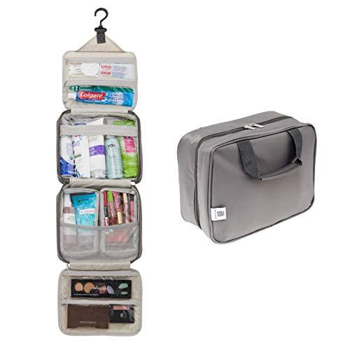 Ballage Hanging Travel Toiletry Bag With Customizable Storage | Store Toiletries, Makeup, Cosmetics, Personal Items | Waterproof Fabric, Hang Hook | Makeup Bag | Cosmetic Bag