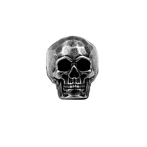 Anello da uomo con teschio in acciaio inossidabile 11 US / 64 FR e Acciaio inossidabile, 13 US / 69 FR, colore: Argento patinato, cod. Bague homme Skull Tête de Mort