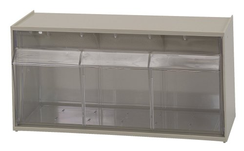 Quantum Storage Systems Quantum QTB410 Clear 5-14-Inch by 11-78-Inch by 5-1516-Inch Tip Out Bin System Ivory