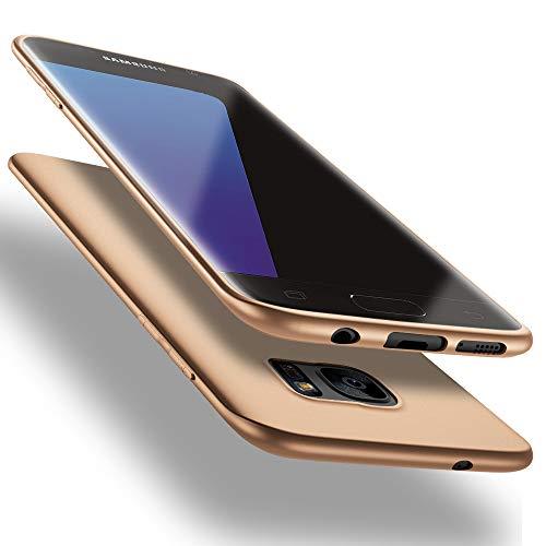X-level für Samsung Galaxy S7 Edge Hülle, [Guardian Serie] Soft Flex Silikon Premium TPU Echtes Telefongefühl Handyhülle Schutzhülle Kompatibel mit Samsung Galaxy S7 Edge Case Cover - Gold