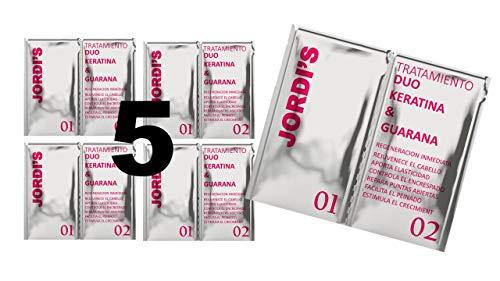 Pack 5 ud. Trattamento professionale alla cheratina per parrucchieri ultra nutriente, anticrespo e lucentezza intensiva: trattamento duo alla cheratina