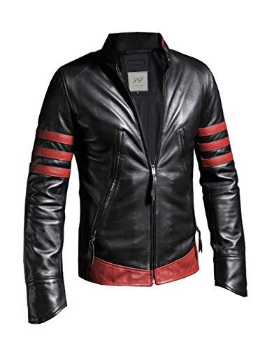 Pelletteria Factory X-Men Origins Wolverine Black w Red Stripes Distressed Faux...