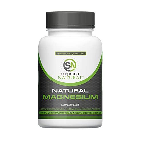 Surpresa Natural® - Natural Magnesium - 180 hochdosierte Kapseln | 100{a4876b62dd26ef8a905e64e020ce2f18254d1dfc06cf6f35e212b38d6598658e} natürliches Magnesium gewonnen aus Meerwasser | hohe Bioverfügbarkeit | Magnesium del Mar | vegan & ohne Zusätze
